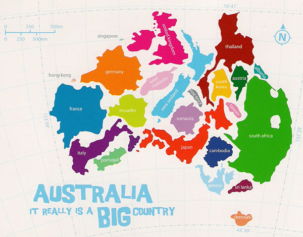 Infographic: Showing how many countries could fit into Australia by area