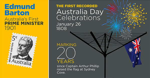 Infographic: Australia's first prime minister and Australia Day Celebrations