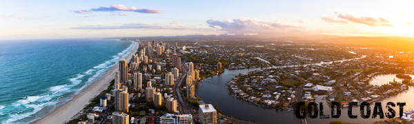 Aerial of the Gold Coast